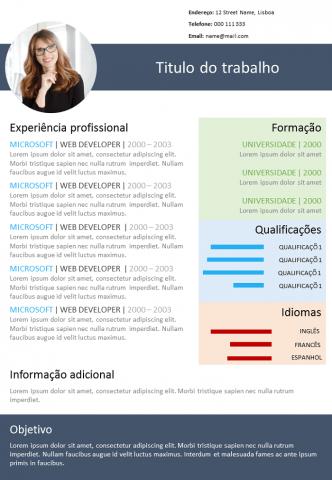 CV Colorido Para Modificar
