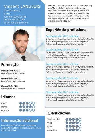 CV Azul Dinâmico