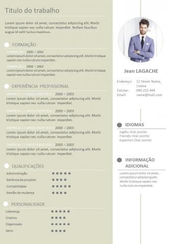 CV Criativo e Formal
